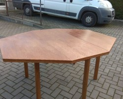 Stół dębowy z 7 krzesłami